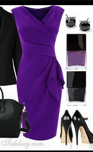 Complementos para vestido morado boda