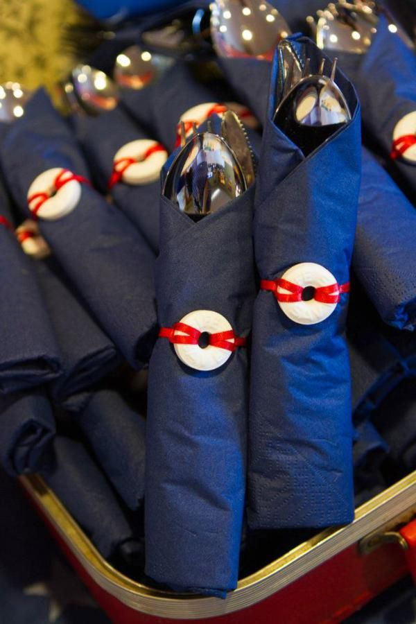 adorable napkins for a nautical themed party