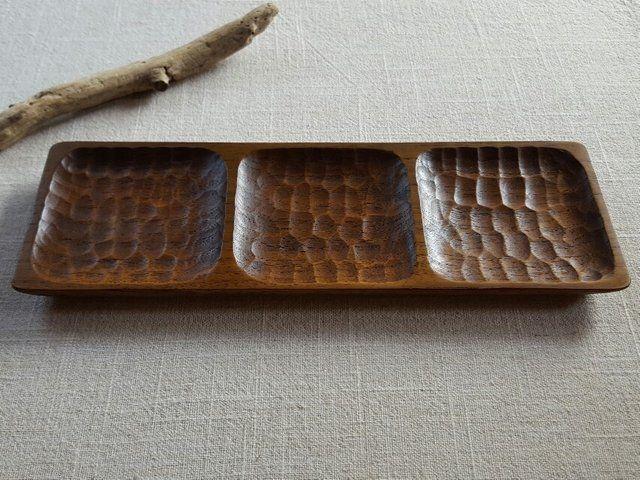 拭き漆 3種盛り皿の画像1枚目