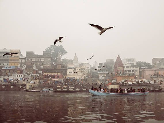 India Photography Varanasi Travel Prints Bird Print Wall