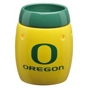 University of Oregon Ducks  - this is the safe (without the safety risks of a burning candle ), wickless alternative to scented candles. This wickless concept is simply decorative ceramic warmers designed to melt scented wax with the heat of a light bulb instead of a traditional wick and flame.