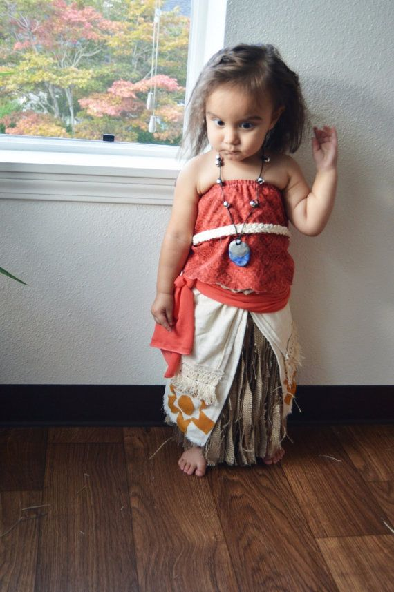 Handmade Moana costume. Inspired by the new Disney movie Moana. Disneyland costume idea. Kids Halloween costume. Check out this item in my Etsy shop https://www.etsy.com/listing/463099184/handmade-moana-costume