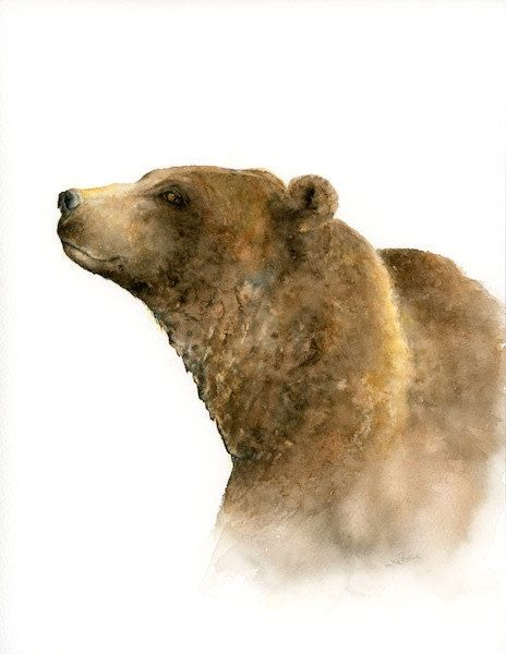 This grizzly bear print is a reproduction of my watercolor bear painting. It would make a wonderful gift for grizzly lovers or those who adore bear