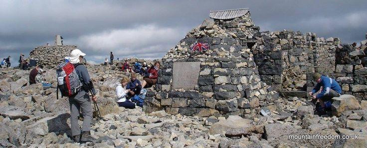 Ruins of the Ben Nevis Summit hotel - Mountain Freedom