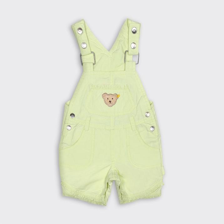 Kim ne derse desin salopetler çocuklara çok yakışıyor! Steiff'in 'teddy bear'lı bu sarışın salopetiyle minikler yaz güneşi gibi parıl parıl olacak. Kanz ve SD mağazalarında 'etiketin yarısı' avantajıyla 84 TL yerine 42 TL!