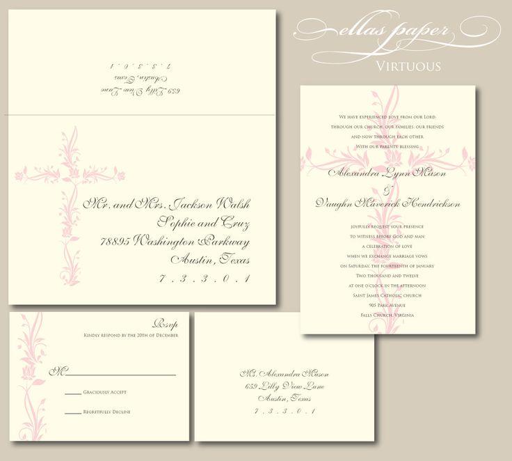 Best 25+ Christian wedding invitation wording ideas on Pinterest ...
