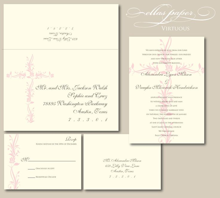 Ideas For Wedding Invitation Wording Christian : best ideas about Religious Wedding on Pinterest Wedding invitation ...