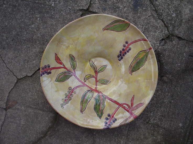another pokeberry platter from rebecca wood