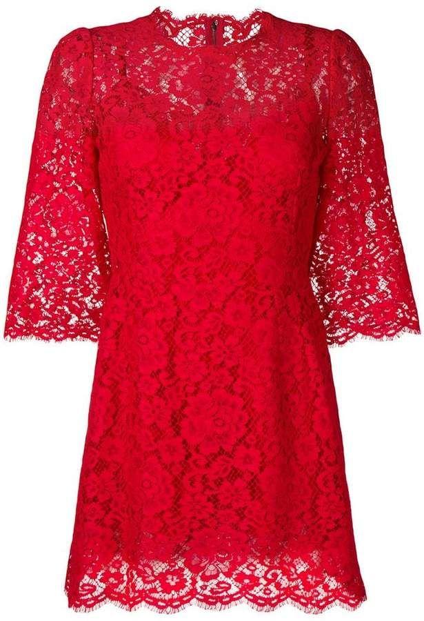 Mini abito Dolce & Gabbana in pizzo floreale