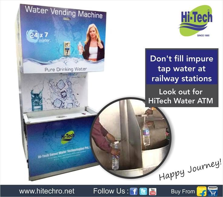 Water Vending Machine. http://www.hitechro.net/industrial-ro-system/water-vending-machines.html #WaterVendingMachine