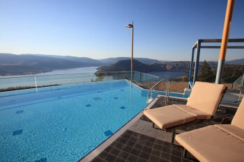 my favourite view of the Okanogan...the infinity pool at Sparkling Hill resort
