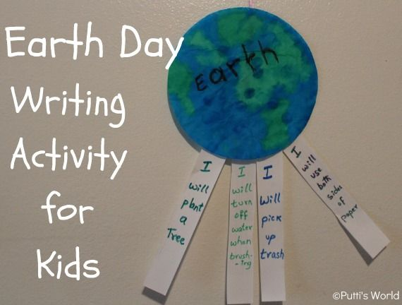 I will help Earth - Writing Activity for Kids #readforgood ~ Putti's World-kids-activities #earth Day