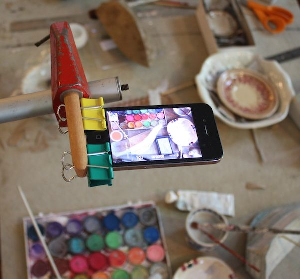 Video set up - great idea for setting up your iPhone to take video... by Ann Wood.
