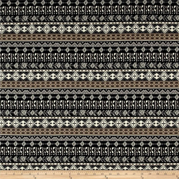 Add a piece of high fashion knitwear to your wardrobe with this designer jersey fabric. This lightweight printed cotton jersey knit features 25% stretch on the grain and 10% on the vertical for comfort and ease. perfect for t-shirts, lined knit skirts and dresses, and more! Colors include black, cream, khaki, black, and grey.