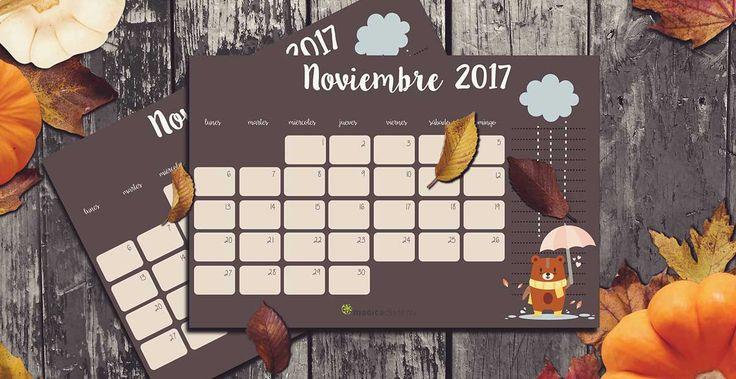 Ya incorporada al trabajo después del permiso de maternidad, saco un poco de tiempo para compartiros el #calendario #noviembre 2017. Siento llegar un poco tarde, pero me estoy adaptando a esta nueva etapa. Espero llegar a hora para el próximo mes.