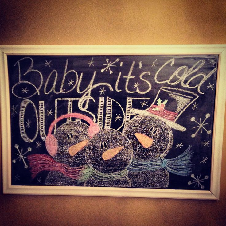 Winter chalkboard art