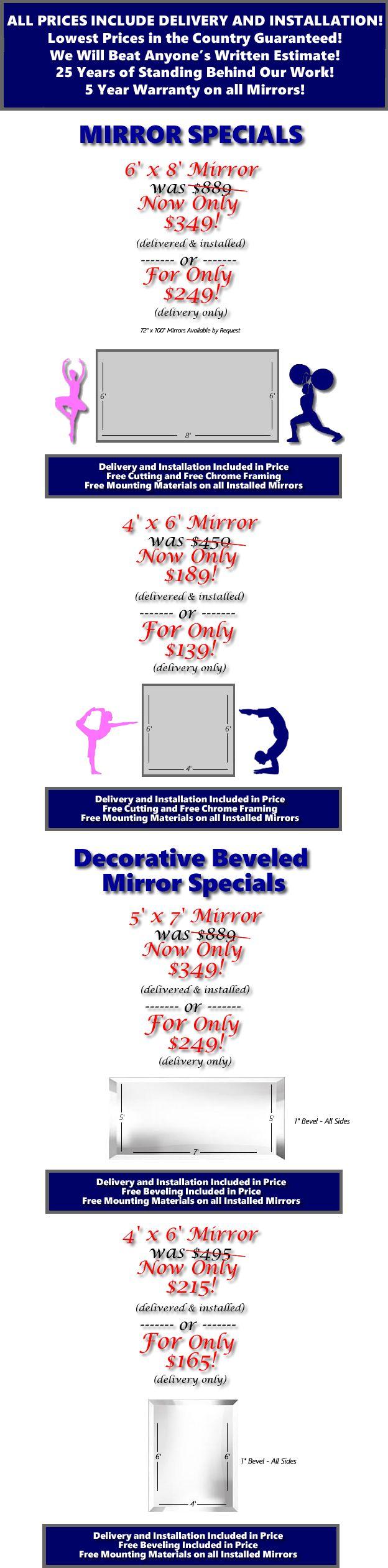gym mirrors, beveled mirrors, dance mirrors, large mirrors, gigantic mirrors, cheap mirrors, affordable mirrors, ballet mirrors, yoga mirrors, martial marts mirrors, weight lifting mirrors, studio mirrors, unbreakable mirrors, low price mirrors