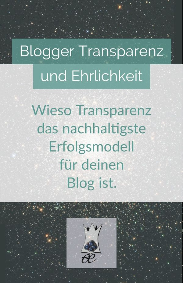 blogger transparenz