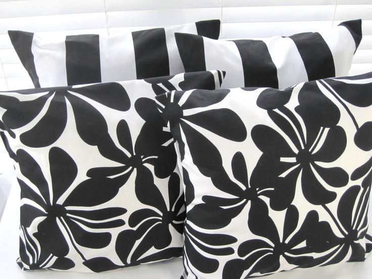 Etsy White Throw Pillow : Black and White Pillow, Decorative Throw Pillows, Pillow Cover, 18