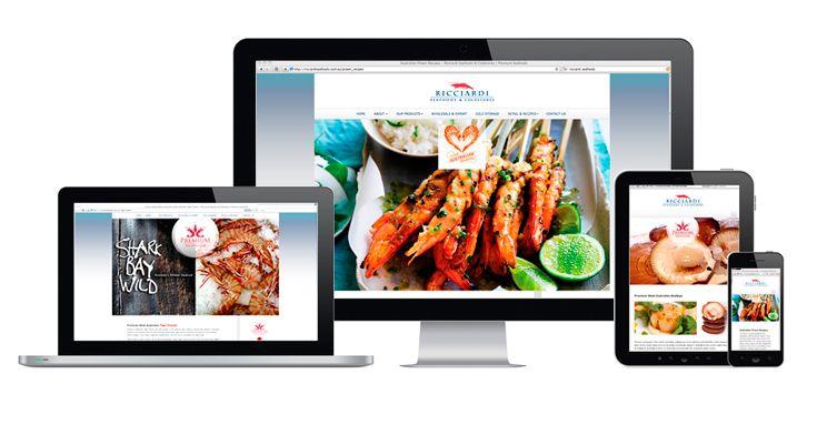 Ricciardi Seafoods & Coldstores website. Fully Fluid Design by V&P.