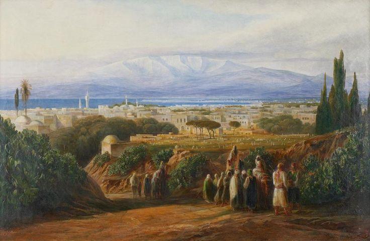 View of Beirut, Lebanon, 1861 (Osmanlı Dönemi Beyrut, Lübnan)