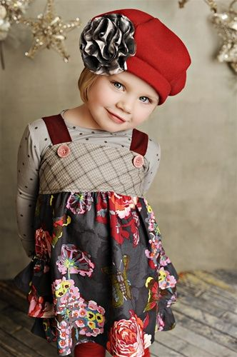 Adorable Persnickety Olivia jumper in Jewel Floral