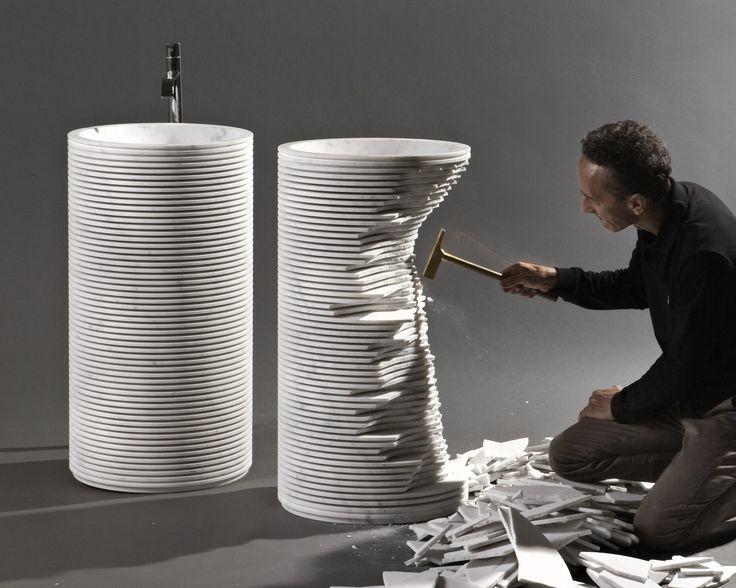 Freestanding marble washbasin INTROVERSO by Antonio Lupi Design® design Paolo Ulian
