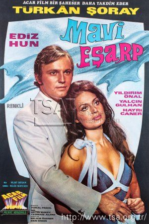 ✿ ❤ Mavi Eşarp filminde Türkan Şoray & Ediz Hun 1971