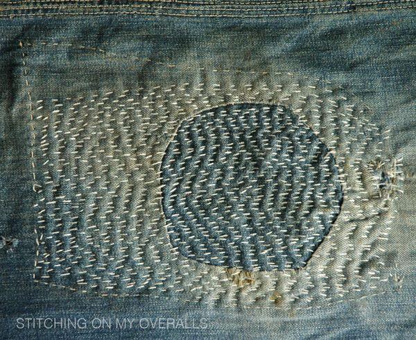 sashiko-style mending, folk fibers