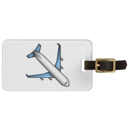 #Airplane - Emoji Luggage Tag - #travel #accessories