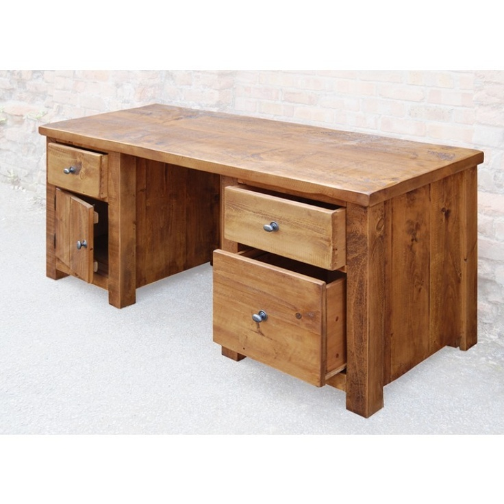 Denby Rustic Solid Pine Large Computer Desk   Denby Collection   Distressed    Shop by Style. 9 best Home Office Furniture images on Pinterest