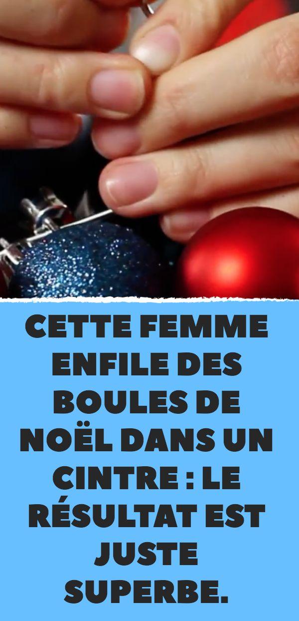 Diese Frau legt Weihnachtskugeln in einen Kleiderbügel: das Ergebnis ist genau richtig …   – Noël