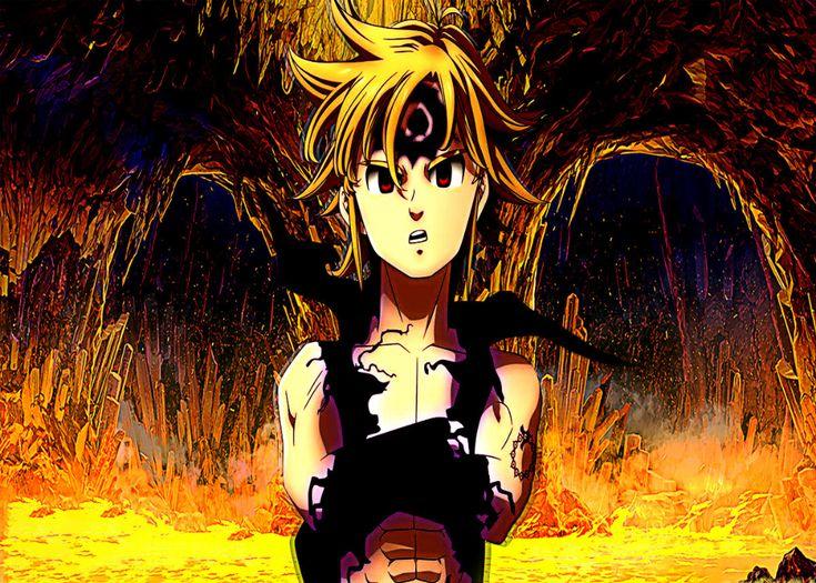 Nanatsu No Taizai Anime & Manga Poster Print metal