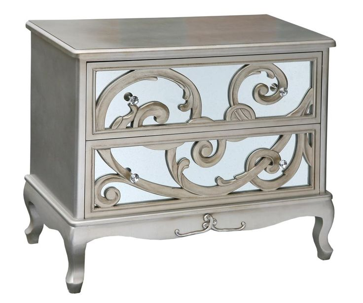 Silver Fretted Chest Of Drawers