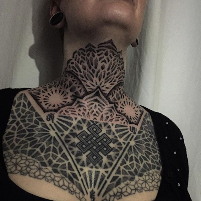 Best Geometric Chest Tattoos