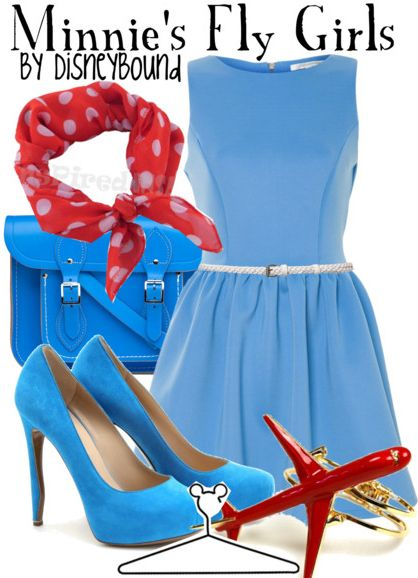 Minnie's Fly Girls by disneyboundMinnie'S Fly, Fly Girls, Cute Outfits, Disney Inspiration, Disney Bound, Disneybound Outfit, Flight Attendant, Disney California Adventure, Disney Character