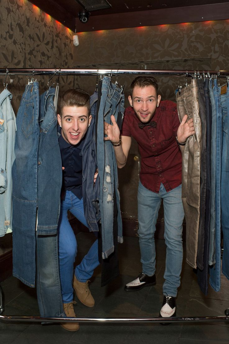 Cheeky chaps Twist & Pulse at the #jeansforgenes launch party! @jeansforgenes @TwistandPulse