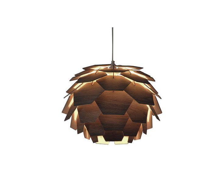 CARPATICA taklampe Ø41, brunCARPATICA taklampe Ø41 H34, trefiner, brun, 60W E27