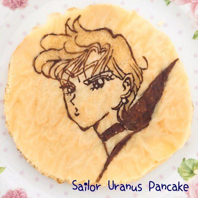 Sailor Uranus Pancake☄ セーラーウラヌスのパンケーキ作りだめパンケーキはこれが最後です。外部戦士は全部作れたので満足⭐️まだまだヘタっぴですが、ウラヌス様だけは気合が入り、セーラー服も塗りました(笑)✨実はこの日、ブラックレディも作ったんですが、カラーにしようと一度主線を焼いてからフライパンからクッキングシートを外した途端、ぱらぱら....イラストが全て線となり消えてしまったのでした  今度はちゃんとメレンゲにしてふわふわのパンケーキが焼いてみたいです  #sailormoon #sailormooncrystal #manga #anime #naokotakeuchi #cocoa #sailoruranus  #saolormoonpancake #sailormoonfood #pancake #sweets #sailormoonsweets #セーラームーン #セーラームーンcrystal #武内直子 #キャラフード #セーラームーンキャラフード #パンケーキ #ホットケーキ #おうちカフェ #手作りおやつ #セーラーウラヌス #シロ...