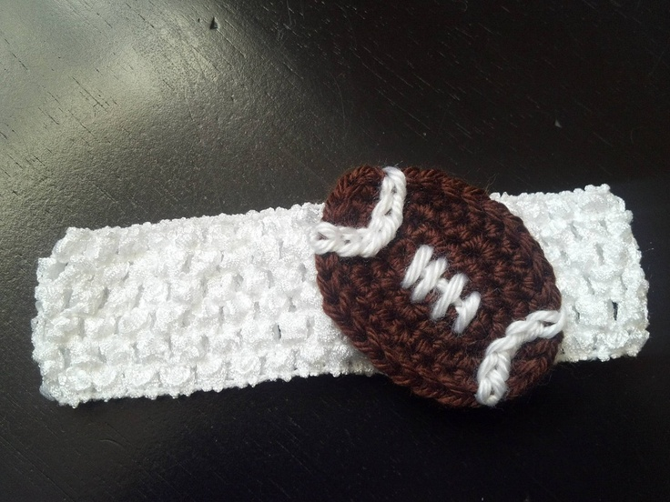 Crochet football Baby Girl football headband