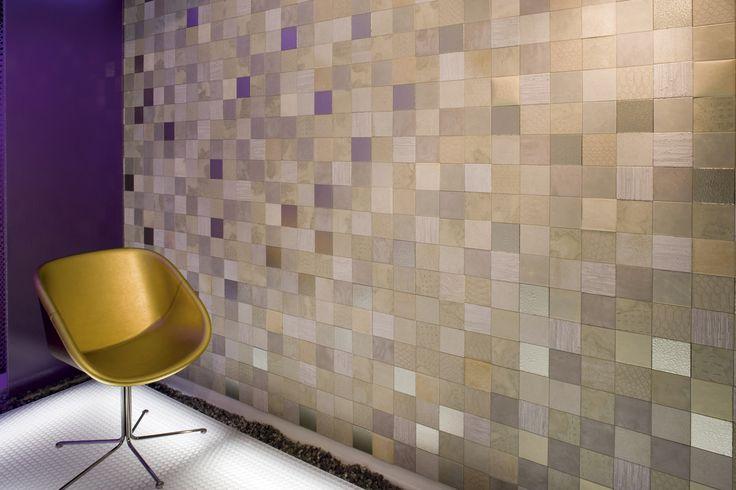 Leather tiles by studioart. Italian design and italian leather! #mosaic #design