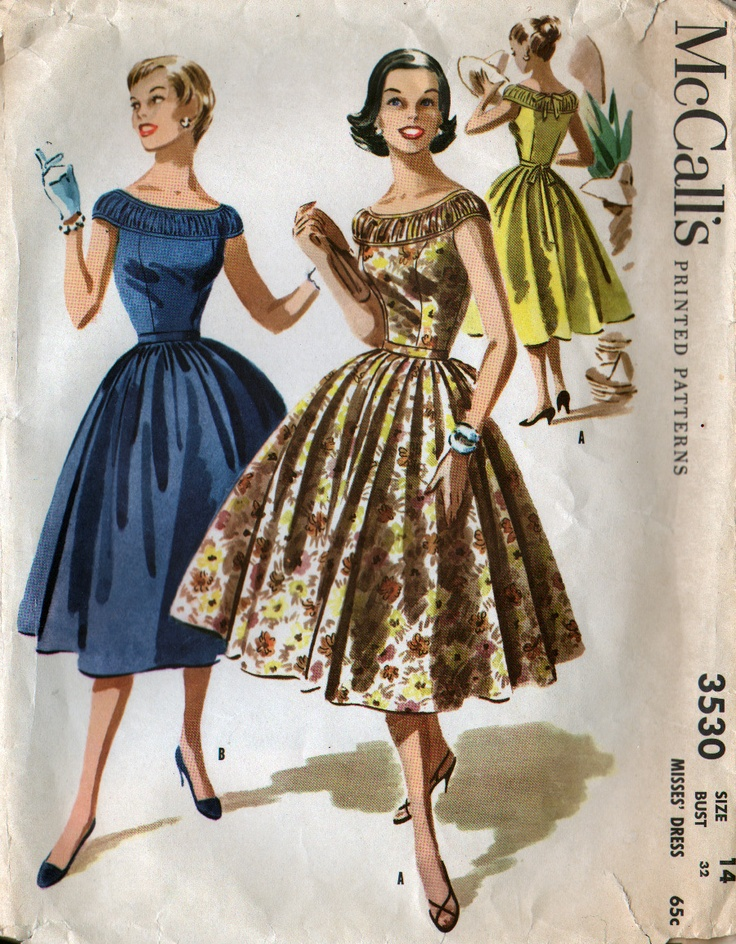 McCall's 3530: amazing ruching at the yoke50S Sewing, Full Skirts, Mccall 3530, Etsy, Parties Dresses, Sewing Pattern, Vintage Sewing, 60S Vintage, Vintage Pattern