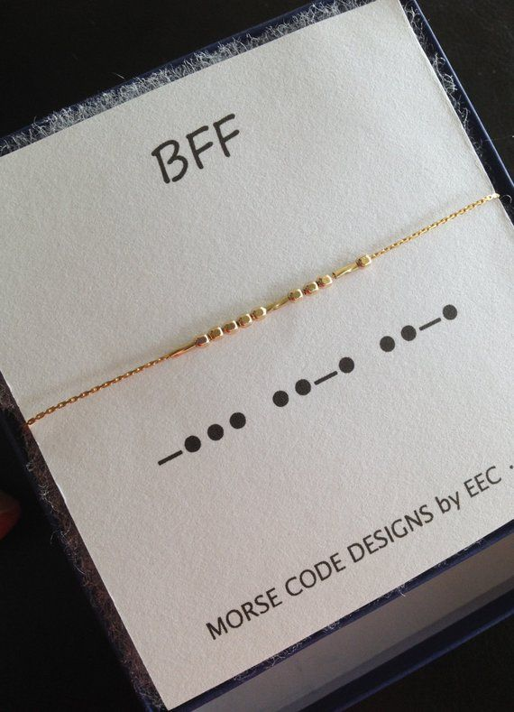 BFF Morse Code Necklace in Sterling Silver or 14k Gold Filled, Best Friends Jewelry, Kindred Spirits Necklace