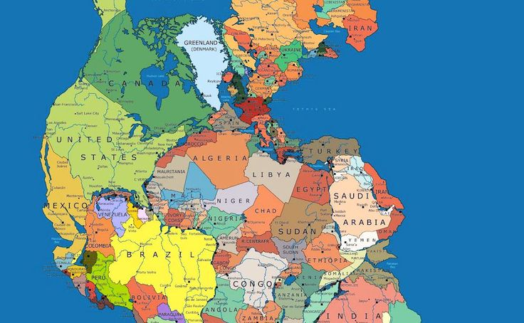 Pangaea Politica By Massimo Pietrobon     About 300 million years ago, Earth did not have seven continents (or eight if you count Zealand...