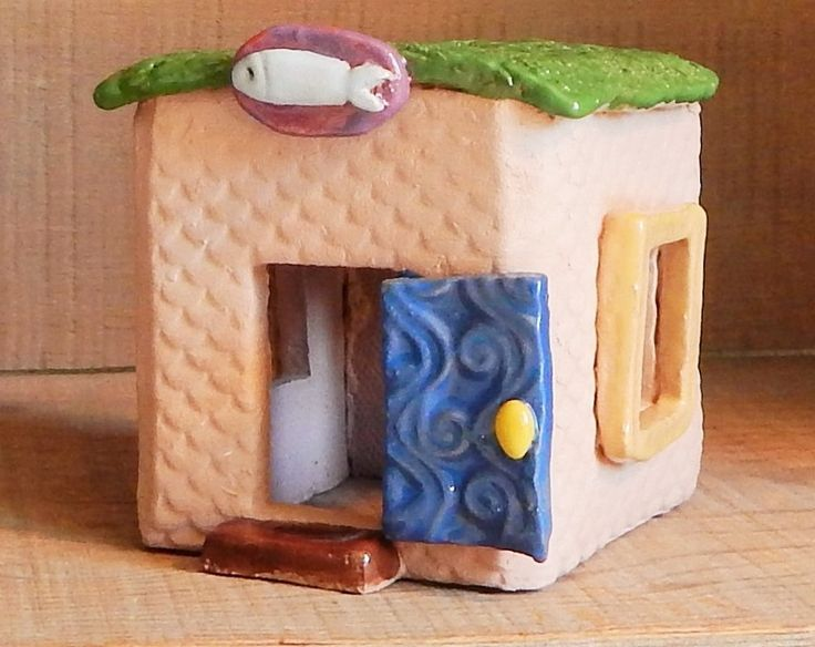 Fish HOUSE, Super cute Aquarium Decoration, fish tank, decoration, fish bowl decoration, Betta bowl, fish, houe, cave, cermamics and pottery by JodiAnnCampbell on Etsy