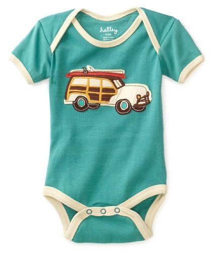 Hatley - Baby Boys Infant Surf's Up One Piece Bodysuit: Amazon.com: Baby