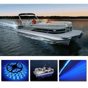 One of our most popular pontoon boat accessories! Take your boating into the night in a striking and beautiful way with these high-quality blue waterproof unde