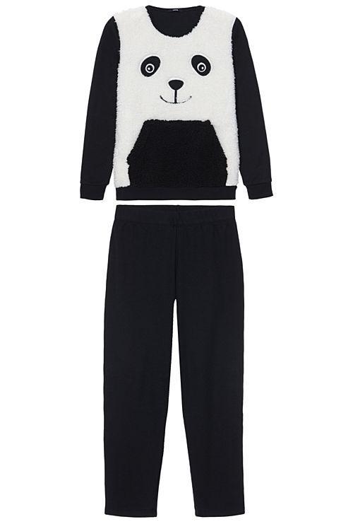 Vem descobrir Pijama Comprido Estampado Panda  da Tezenis; qualidade e paixão para um produto sempre na moda. Compre online!