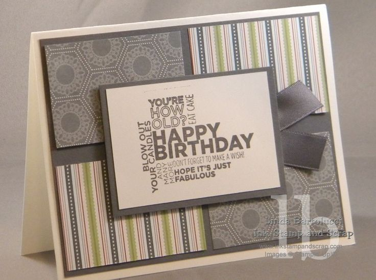Masculine Birthday Card and Video - Ink Stamp and Scrap