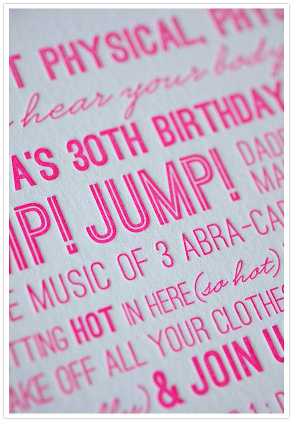 273 best invitations announcements images on pinterest paper a hot pink birthday invite stopboris Image collections